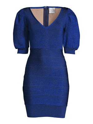 Herve Leger puff sleeve mini dress