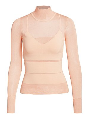 Herve Leger sheer bandage knit turtleneck