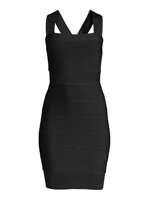 Herve Leger sleeveless mini bodycon dress