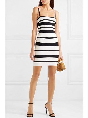 Herve Leger striped bandage mini dress