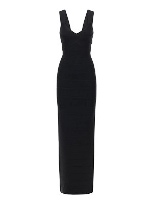 Herve Leger Sweetheart stretch jersey long dress