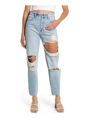 Hidden Jeans distressed tapered mom jeans