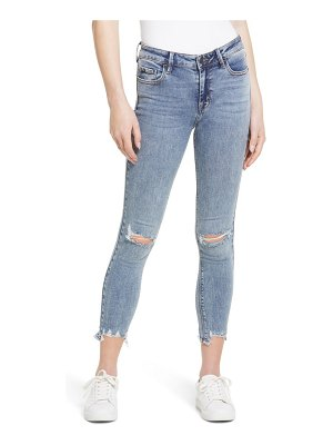 Hidden Jeans ripped chewed hem ankle skinny jeans