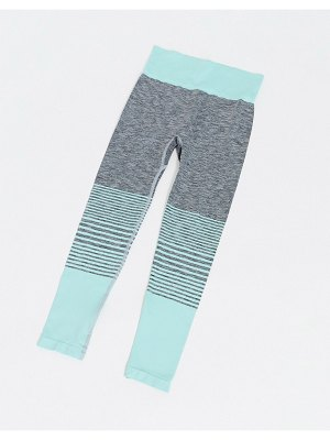HIIT seamless leggings in mint ombre-green