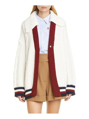 Hilfiger Collection cable knit cardigan