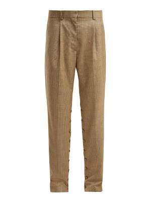 HILLIER BARTLEY button seam check wool trousers