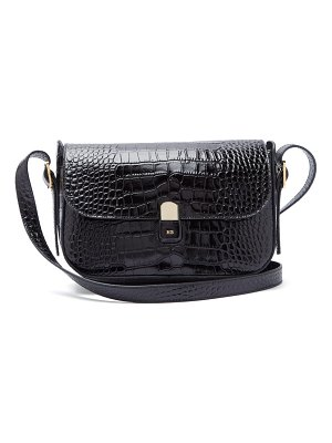 HILLIER BARTLEY crocodile-effect leather shoulder bag