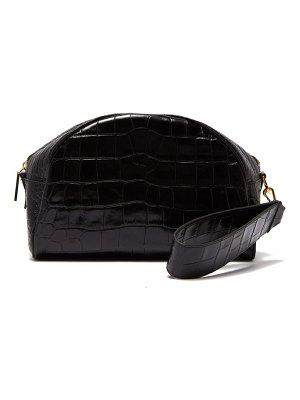 HILLIER BARTLEY crocodile embossed leather clutch bag