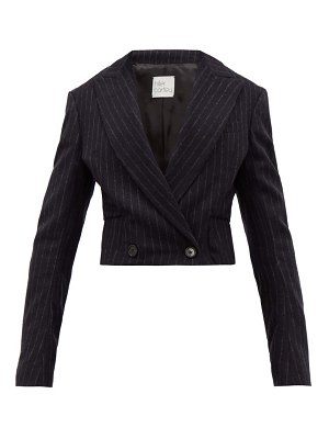 HILLIER BARTLEY cropped pinstripe-wool jacket
