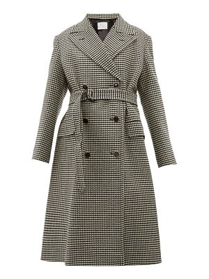 HILLIER BARTLEY double breasted houndstooth wool coat