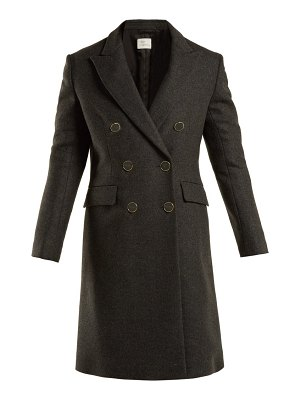 HILLIER BARTLEY double breasted wool blend coat