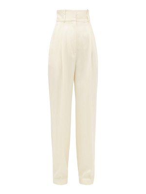 HILLIER BARTLEY high-rise striped wool trousers