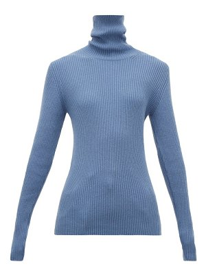 HILLIER BARTLEY ribbed roll-neck cashmere sweater