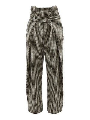 HILLIER BARTLEY tailored houndstooth wool trousers