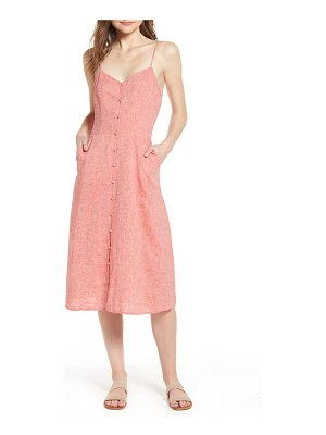 Hinge button front midi dress