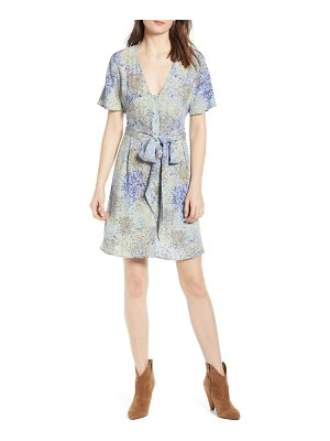 Hinge floral front button minidress