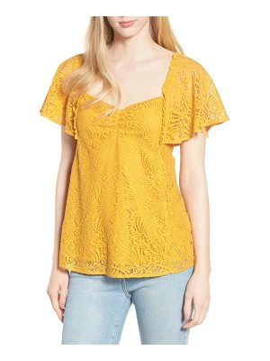 Hinge flutter sleeve empire top
