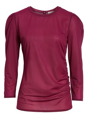 Hinge ruched long sleeve top