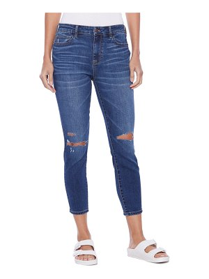 HINT OF BLU brilliant high waist ripped ankle skinny jeans
