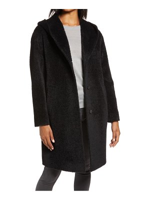 HiSO hooded wool blend coat