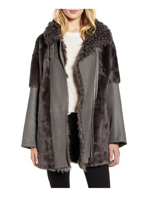 HiSO lamm reversible genuine shearling coat