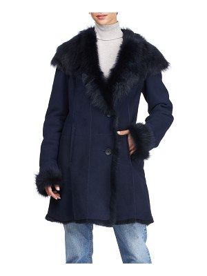 HiSO Shearling Button-Front Coat