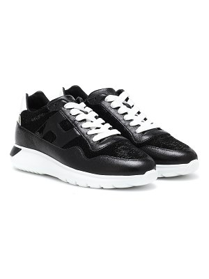 hogan interactiveâ³ sequined leather sneakers