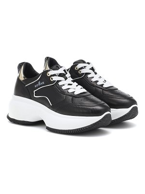 hogan maxi i active leather sneakers