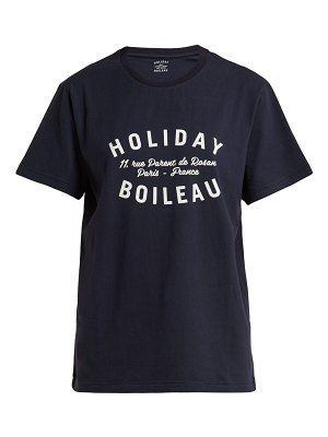 HOLIDAY BOILEAU Printed Cotton T Shirt