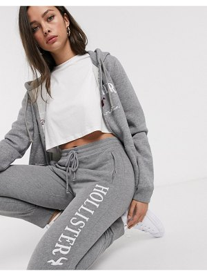 Hollister classic sweatpants with embroidered logo-gray