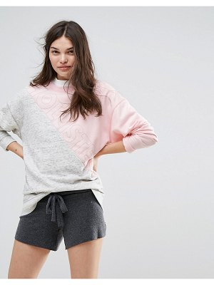 Hollister color block logo sweatshirt-gray