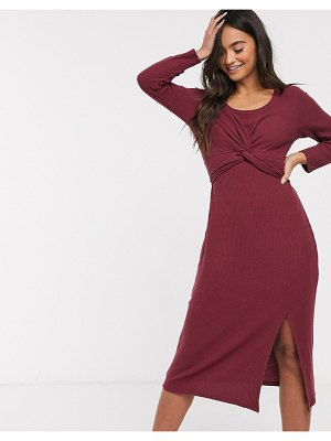 Hollister cozy wrap midi dress-red