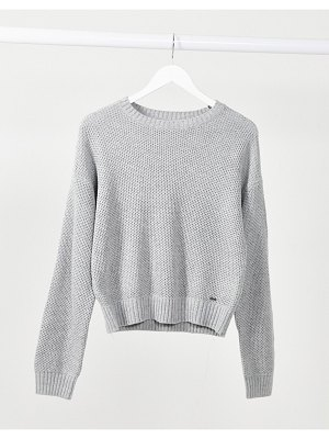 Hollister honeycomb sweater in light gray