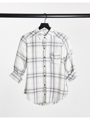Hollister long sleeve shirt in plaid-grey