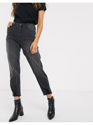 Hollister washed mom jeans-black