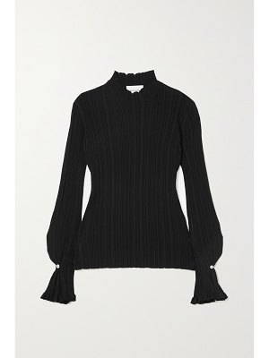 Holzweiler heime ruffled ribbed-knit top