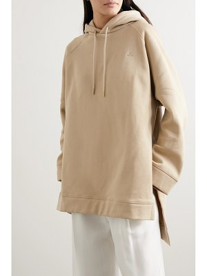 Holzweiler sissel oversized embroidered cotton-jersey hoodie