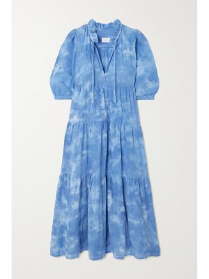 Honorine giselle tiered tie-dyed cotton dress
