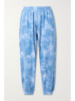 Honorine luca tie-dyed cotton-jersey track pants