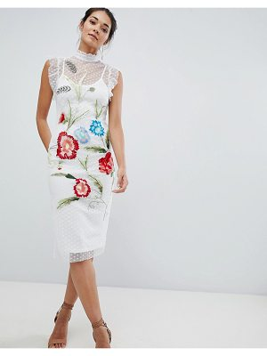Hope and Ivy Hope & Ivy Floral Embroidery Midi Dress