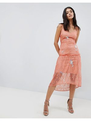 Hope and Ivy Hope & Ivy Lace Embroidery Cami Dress