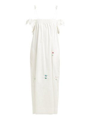 HORROR VACUI ameda bead embellished cotton maxi dress