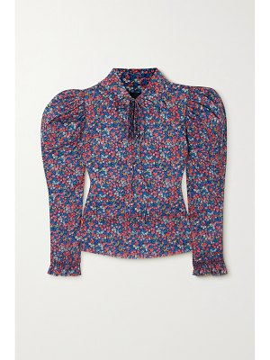 HORROR VACUI coco ruffled floral-print cotton blouse
