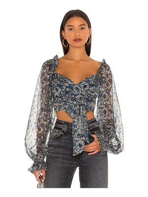 House of Harlow 1960 x revolve wella blouse