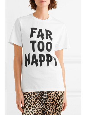 HOUSE OF HOLLAND far too happy printed cotton-jersey t-shirt
