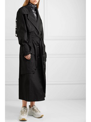 HOUSE OF HOLLAND oversized printed ripstop trench coat