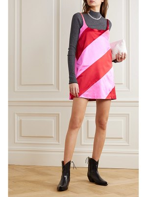 HOUSE OF HOLLAND paneled satin mini dress