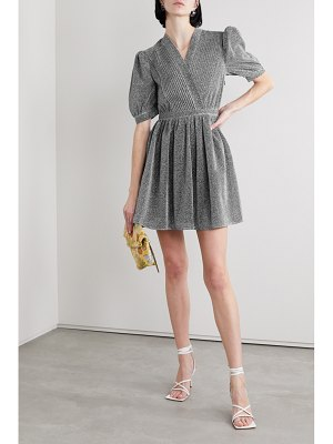 HOUSE OF HOLLAND pintucked lurex mini dress