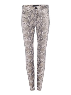 Hudson barbara python print leather ankle skinny pants