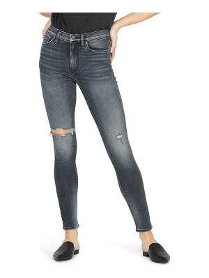 Hudson barbara ripped high waist super skinny jeans